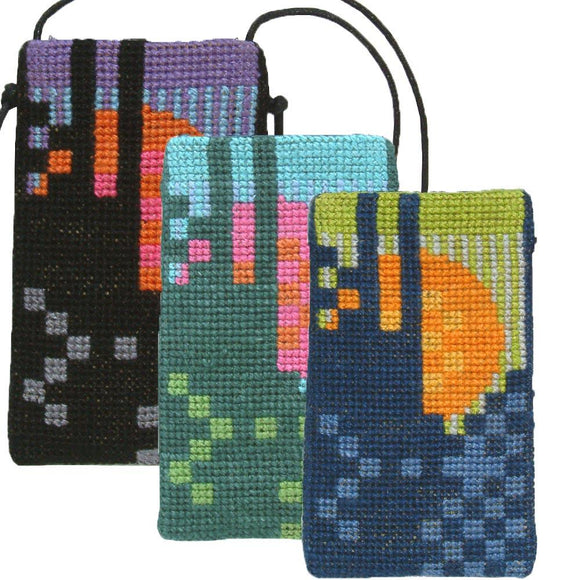 Fru Zippe Woollen Cross Stitch Kit: Sun Phone Case (3 colours available)