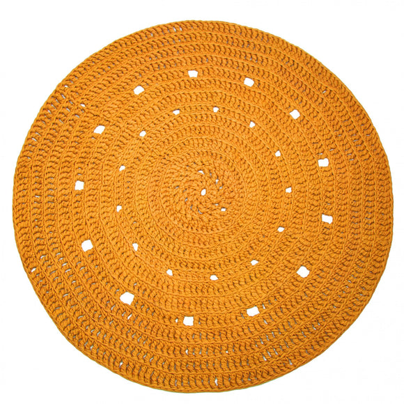 Hoooked DIY Craft Set Crochet Round Rug: Yellow or Grey