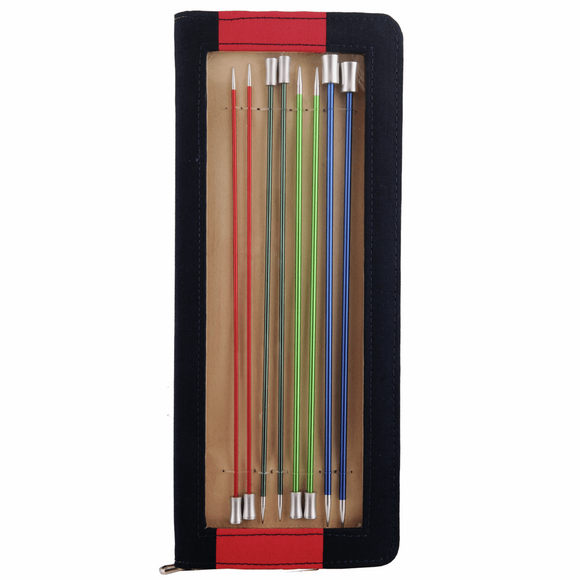 KnitPro Zing Single Pointed Needles Set: 1 - 2 week delivery