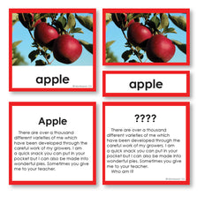 Fruit Who am I 3-part cards