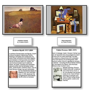 Art-Art History - Famous Paintings With Artist Biographies Set 1