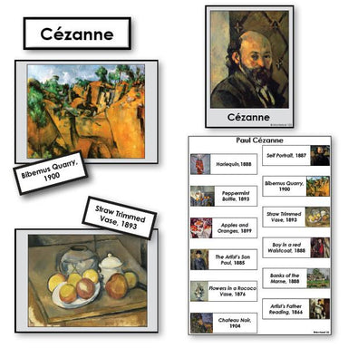 Art-Famous Artists - Cezanne 2-Part Cards Of Paintings With Biography