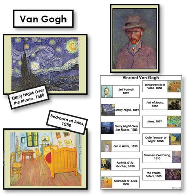 Art-Famous Artists - Van Gogh 2-Part Cards Of Paintings With Biography