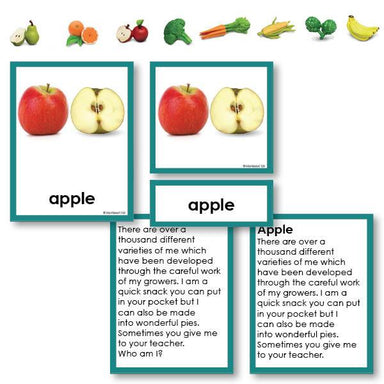 "Botany-Plant Identification - Fruits And Vegetables ""Who Am I?"" 3-Part Cards With Objects"