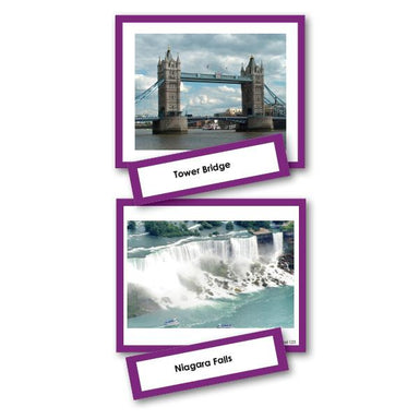 Geography Material-Study Of World Geography - Famous Landmarks Photo Set 2-Part Cards