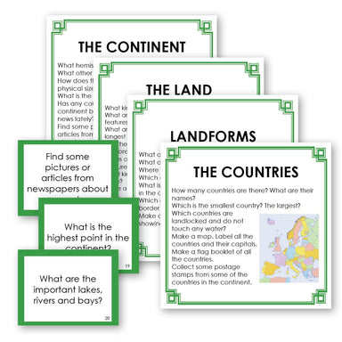 Geography Material-Study Of World Geography - Geography Research Cards