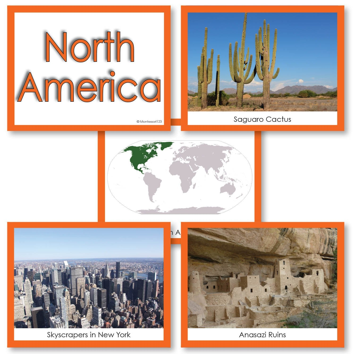 Geography Material-Study Of World Geography - Image Folder Of The Continent North America