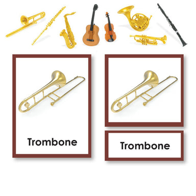 History Material-Culture - Musical Instrument 3 Part Cards With Objects