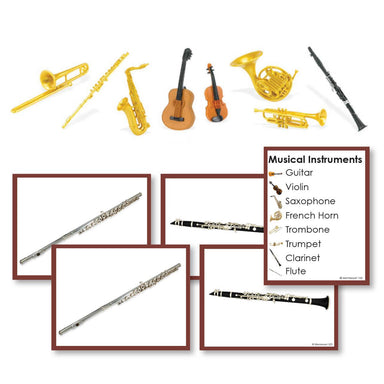 History Material-Culture - Musical Instruments Toddler Cards With Objects