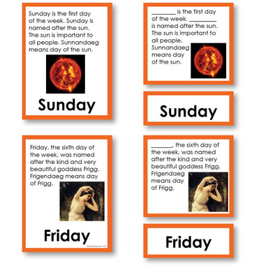 History Material-Time & Seasons - Days Of The Week Stories And Labels