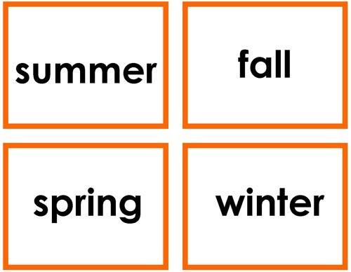History Material-Time & Seasons - Seasons And Activities Sorting Cards