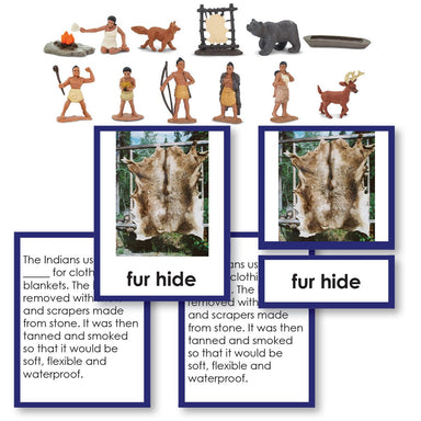 History Material-United States History - Powhatan Indians Historical Replica 3-Part Cards With Objects