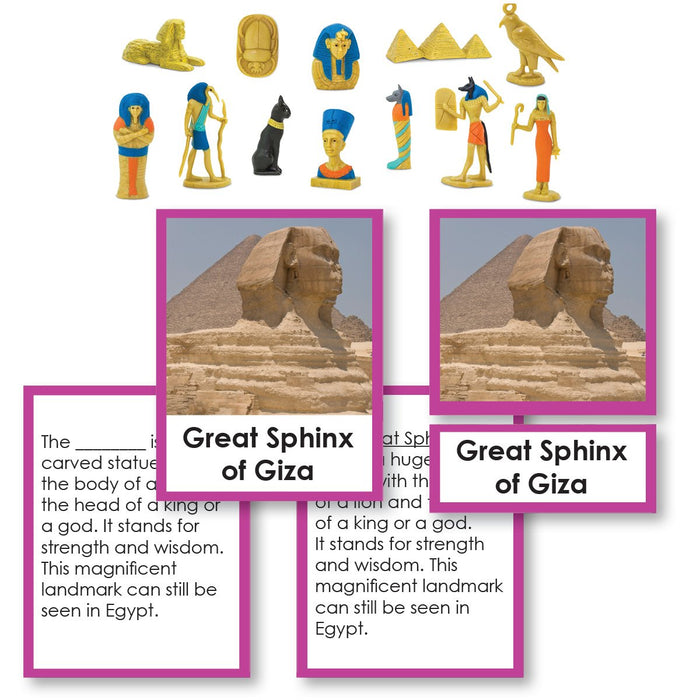 History Material-World History - Ancient Egypt Historical Replica 3-Part Cards With Objects