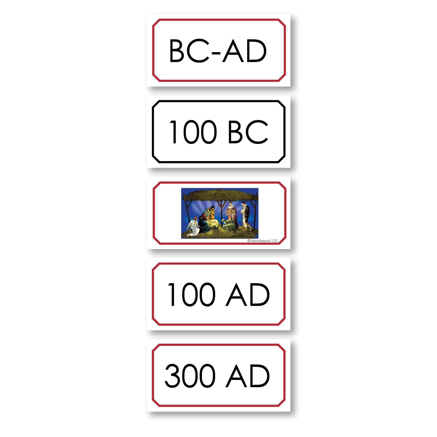 History Material-World History - BC And AD Timeline Cards
