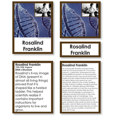 History Material-World History - Pioneering Women Of Science 3-Part Cards With Descriptions