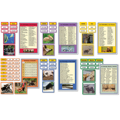 Language Arts-Spanish - Spanish Complete Collection Of Animal Vocabulary Sorting Cards