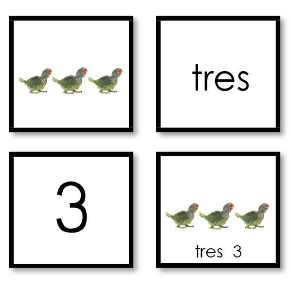 Language Arts-Spanish - Spanish Numbers With Photos (0-10)