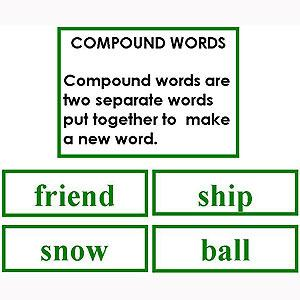 Language Arts-Word Study - Word Study: Compounds - Matching Cards