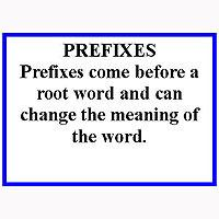Language Arts-Word Study - Word Study: Prefixes - Puzzle Train