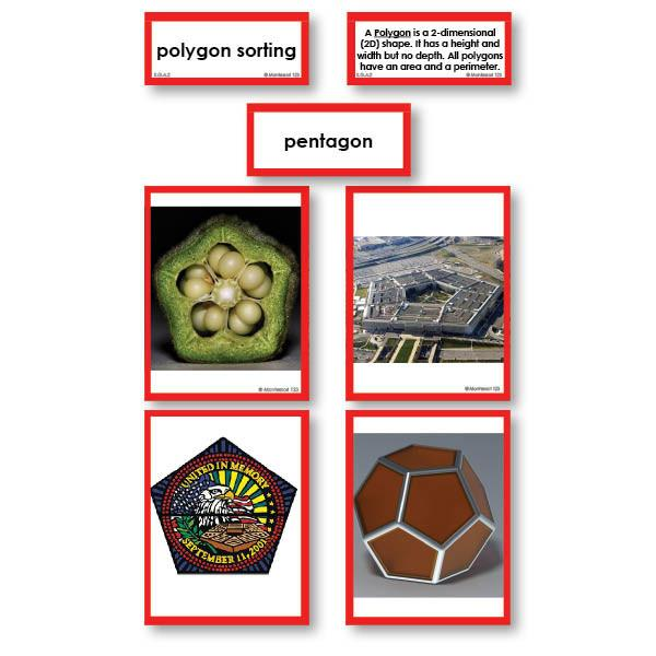 Math Materials-Geometry - Geometric Polygons Photo Sorting Cards