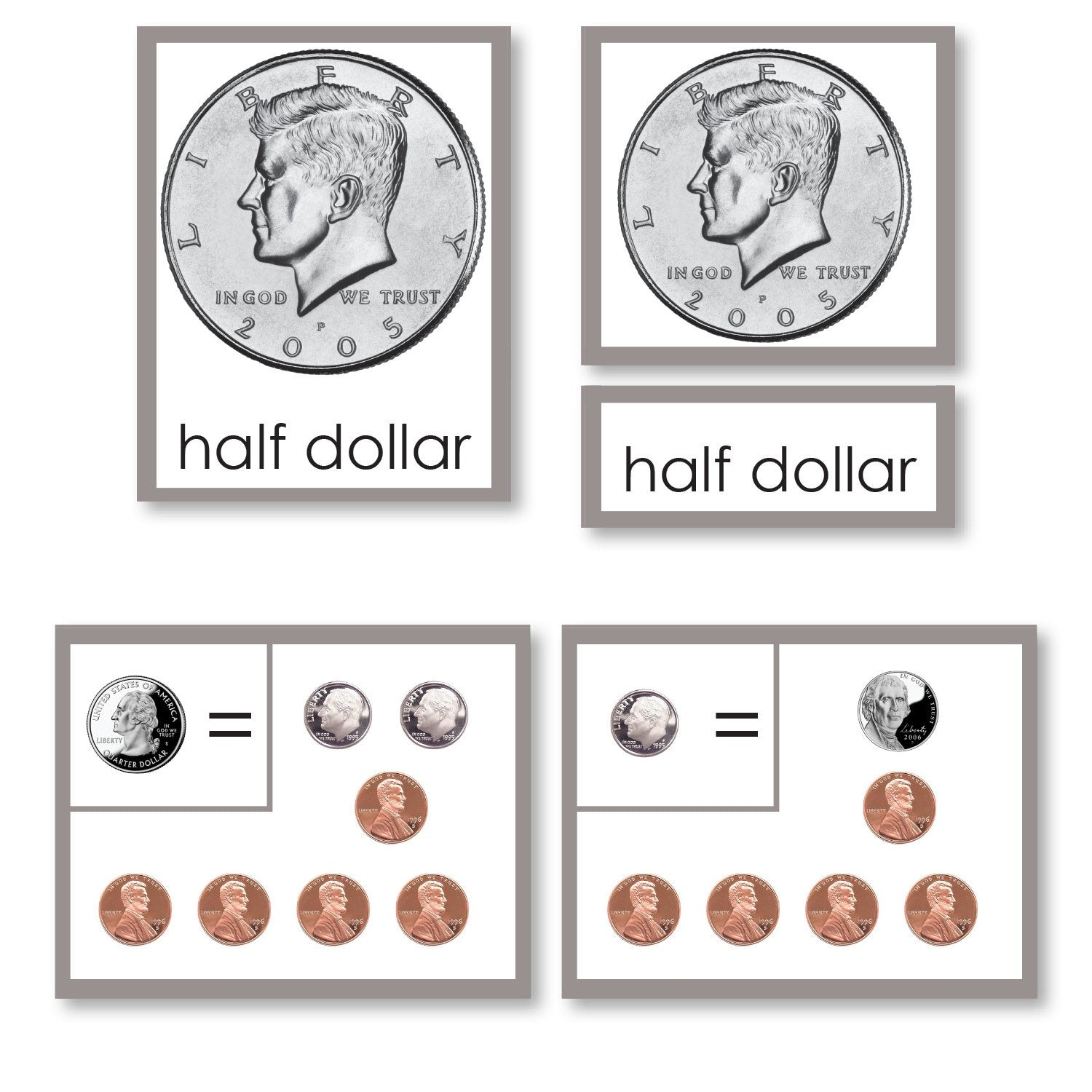 coin equivalency 3 part cards with working charts montessori 123