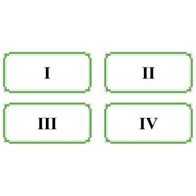 Math Materials-Numbers & Counting - Basic Roman Numeral Cards