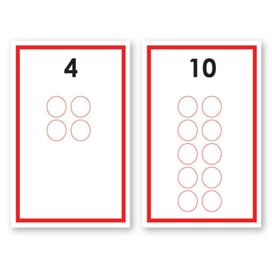 Math Materials-Numbers & Counting - Controlled Counting Cards For Early Math