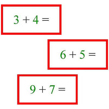 Math Materials-Operations - Math Problems For Addition