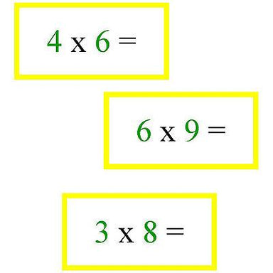 Math Materials-Operations - Math Problems For Multiplication