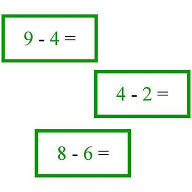 Math Materials-Operations - Math Problems For Subtraction