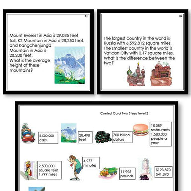 Math Materials-Word Problems - Math Word Problems For Two Steps Level 2