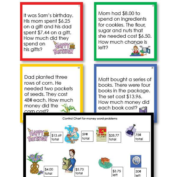 Math Materials-Word Problems - Money Word Problems