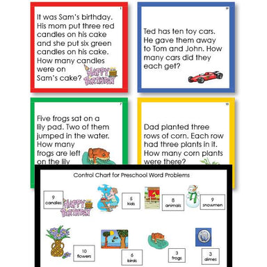 Math Materials-Word Problems - Preschool Math Word Problems