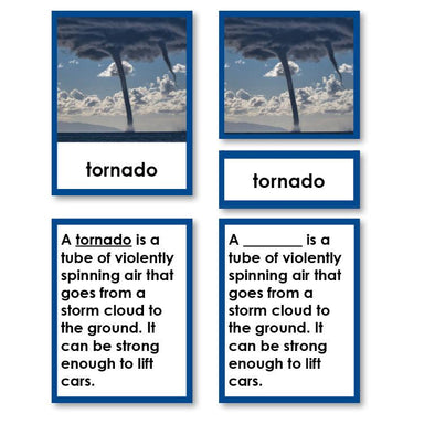 Physical Science-Atmospheric Science - Weather And Natural Disasters 3-Part Cards With Definitions