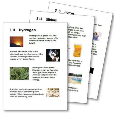 Physical Science-Chemistry - Introduction To Selected Elements In Chemistry For Young Children