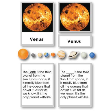 Physical Science-Physics/ Astronomy - Planets 3-Part Cards With Definitions And Objects