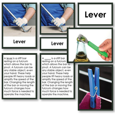 Physical Science-Physics/ Astronomy - Simple Machines 3-Part Cards With Definitions And Sorting Cards