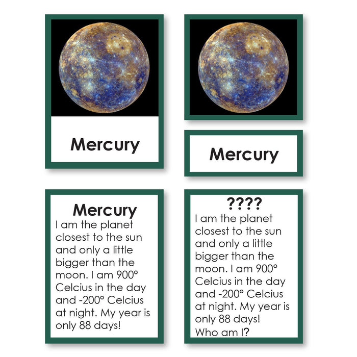 "Physical Science-Physics/ Astronomy - Solar System ""Who Am I?"" 3-Part Cards"