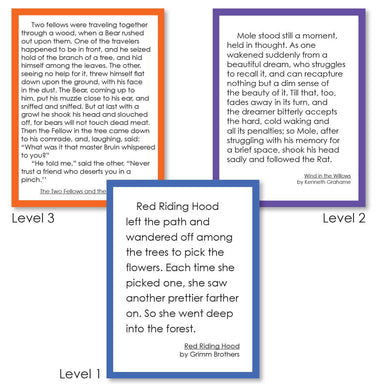 Reading-Comprehension Activities - Dramatic Interpretive Reading Cards - Levels 1, 2, 3