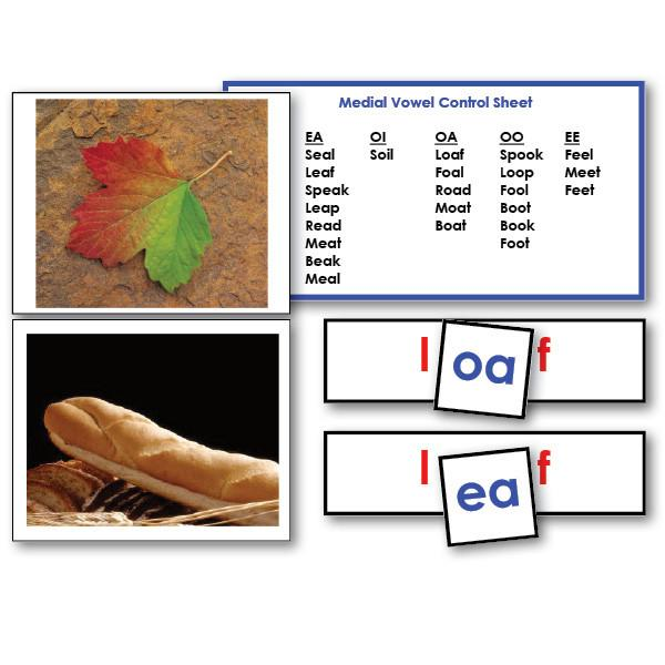 Reading-Phonetic Reading - Medial Vowel Word Cards With Photos