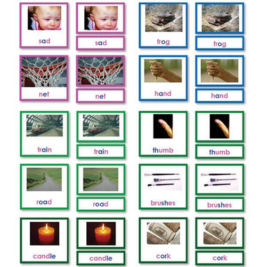 Reading-Phonetic Reading - Phonetic Language Reading 3-Part Cards With Photos