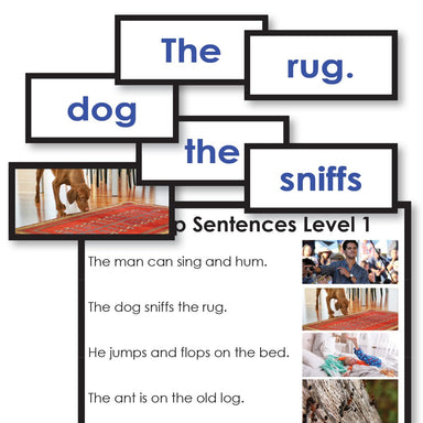 Reading-Reading Sentence Level - Cut Up Sentences Reading Activity Level 1