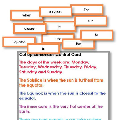 Reading-Reading Sentence Level - Cut Up Sentences Reading Activity Level 2