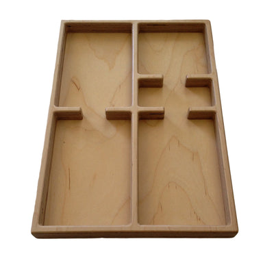 Storage And Display - Large Size 5 Part Tray