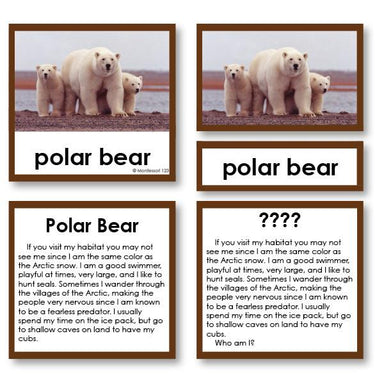 "Zoology-Animal Classification/ Identification - Zoology ""Who Am I?"" 3-Part Cards - Arctic Mammals"