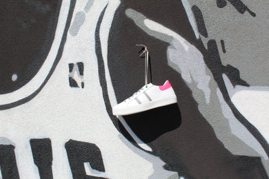 Womsh - Scarpa Kingston White Grey Fuxia