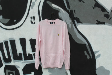 Lyle and Scott - Maglione Cotton Merino Pink