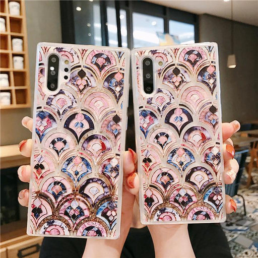 Bling Marble Mermaid Scale Quicksand Phone case for Samsung