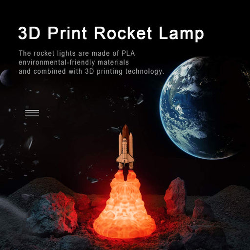 2019 Newest 3D NASA Space Falcon Space Shuttle Lamp Night Light for Space Lovers Moon Lamp