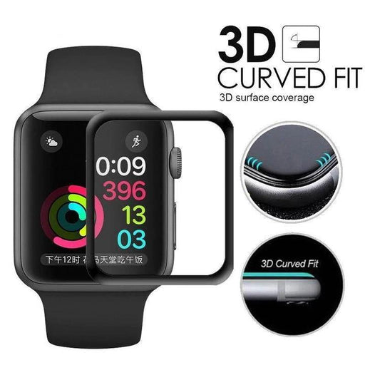 3D Tempered Glass For Apple Watch Series 5/4/3/2/1 Screen Protector Protective Film For watch 44mm 42mm 40mm 38mm